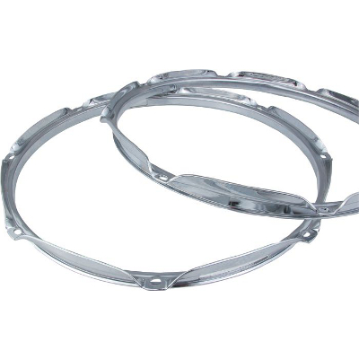 Chrome Snare Side Hoop 14 Inch 10 Hole.