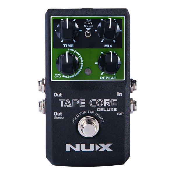 Nux Tape Core Deluxe Tape Echo Pedal.