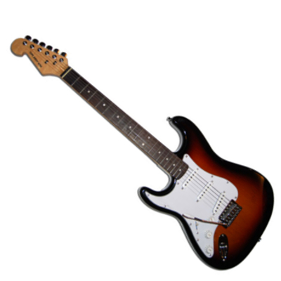 Left Handed Strat Style Full Size Electric Guitar.
