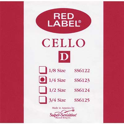Red Label Cello D String.